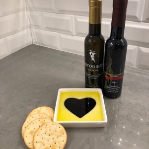 Taste of Love Oil Vinegar Appetizer Plate & Olive Oil and Vinegar Pair