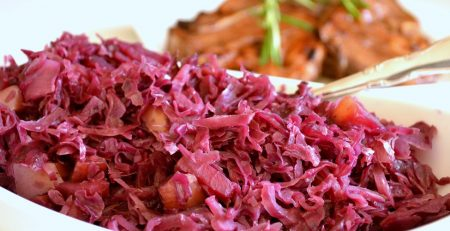 Red Apple Balsamic Cabbage