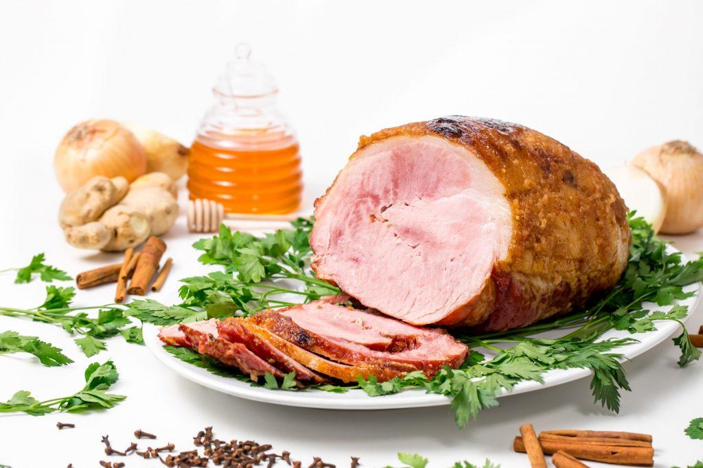 Honey Ginger Balsamic Glazed Holiday Ham