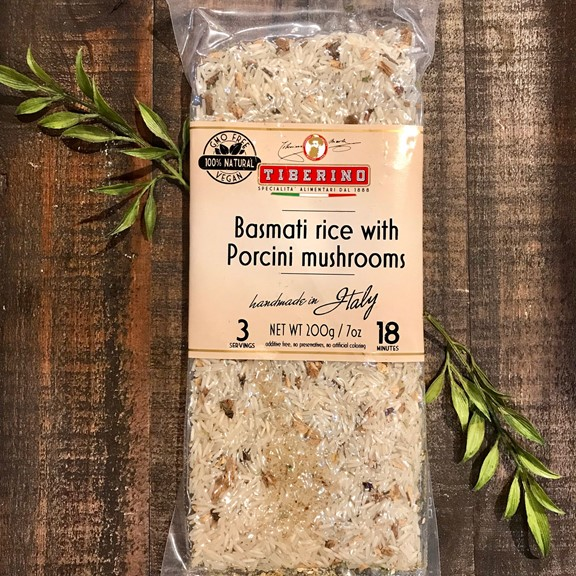 tiberino Basmati rice with porcini mushrooms