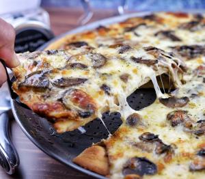 Truffle Mushroom White Pizza Olive Oil Recipe