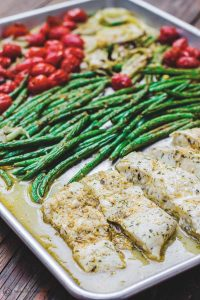 One Pan Baked Halibut Olive Oil Recipe